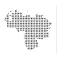 pixel map of venezuela dotted map of venezuela vector image