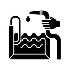 pool construction black glyph icon vector image