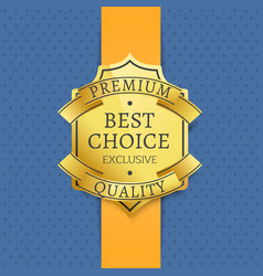 premium quality best choice exclusive golden label vector image