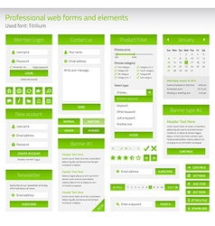 Professional set of web forms and elements vector