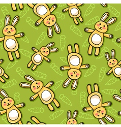 rabbits pattern vector image