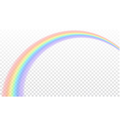 rainbow icon realistic isolated white transparent vector image