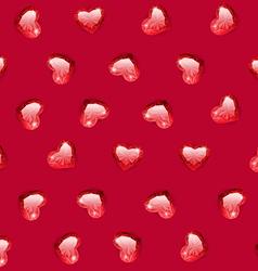 Rugem hearts seamless pattern vector