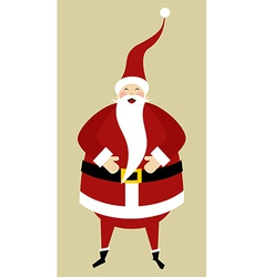 Santa greeting card vector