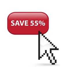 Save 55 Button Click vector image