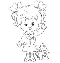 Schoolgirl vector
