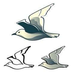 Seagull logo vector
