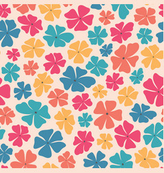 Seamless repeat pattern stylized bright vector