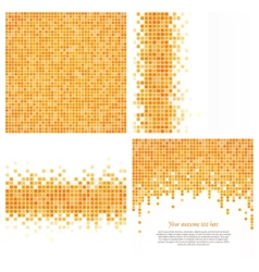 Set 4 pixel templates for your design vector