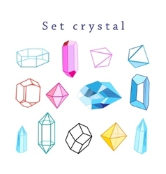 set of crystals vector image vector image