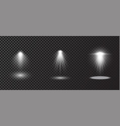 set spotlights isolated on transparent vector image