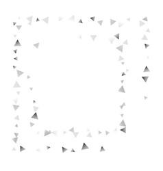silver confetti triangle on a white background vector image