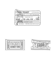 Ticket and admission logo vector