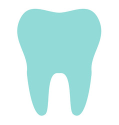 tooth icon isolated on background modern flat pic vector image
