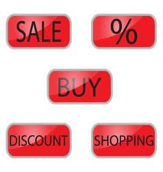 Web button for shooping and online shop vector image