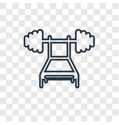 weightlifting concept linear icon isolated on vector image