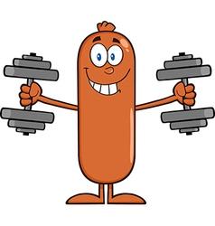 Weightlifting Sausage Cartoon vector