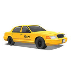 Yellow taxi vector