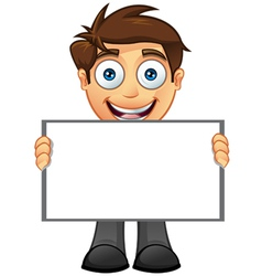 Business Man Blank Sign 6 vector image vector image