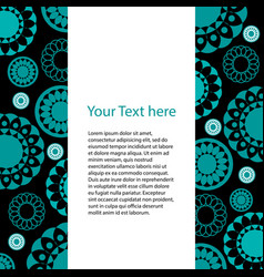 card with geometric pattern of circles vector image