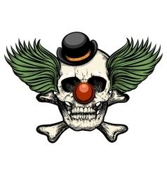Clown skull vector