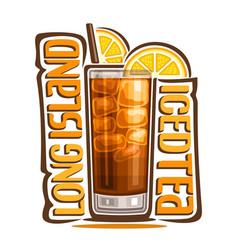 Cocktail long island iced tea vector