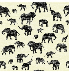 Elephants silhouettes Background vector image