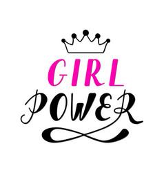 hand written lettering girl power vector image vector image