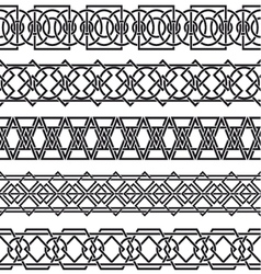 Set of seamless vintage borders in the form of vector image
