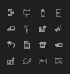 advertisement - flat icons vector image