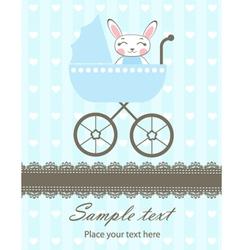 Bunny boy newborn vector image vector image