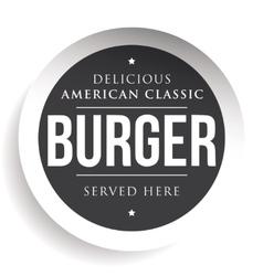 Burger vintage black stamp vector image vector image