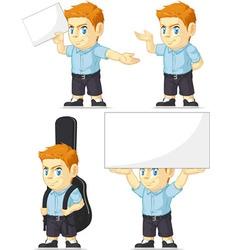 Red Head Boy Customizable Mascot 5 vector image vector image