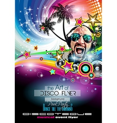 Club Disco Flyer Set with DJs and Colorful vector image