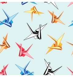 Graphic pattern of origami birds vector image
