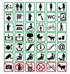International signs vector image