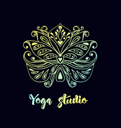 logo template with lotus flower vector image vector image