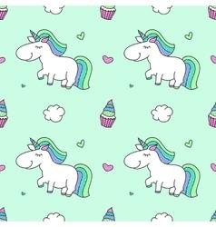 unicorns and rainbows vector image vector image