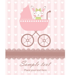 Bunny girl newborn vector image