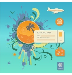 Flat design style modern concept of planning a vector image
