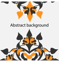 Floral and ornamental item background vector image