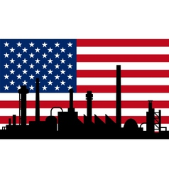 Industry and flag of USA vector image vector image