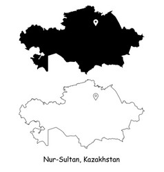 1094 nur sultan kazakhstan vector image