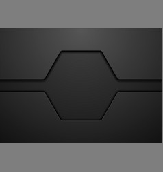 abstract black hexagon technology background vector image