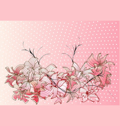 abstract cherry blossoms vector image