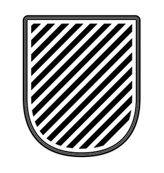 badge striped in monochrome silhouette vector image