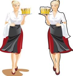 Beer waitress vector