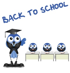 BIRD BACK TO SCHOOL vector