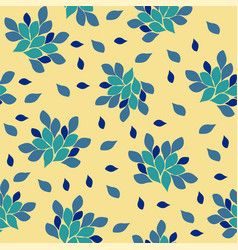 blue flowers on a light vector image