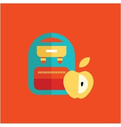 Blue school backpack vector